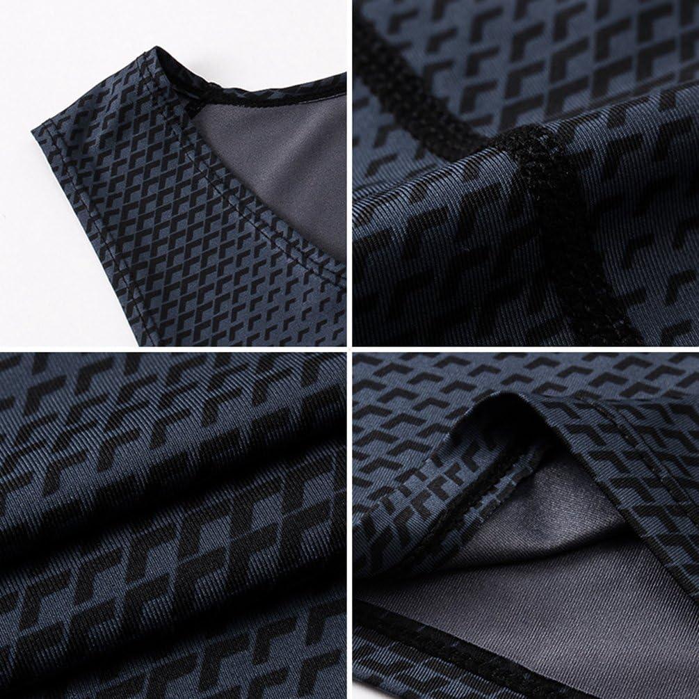 YiiJee Sports T-Shirt Herren Kompressionsshirt Base Layer /Ärmellos Schnelltrocknend Tank Top