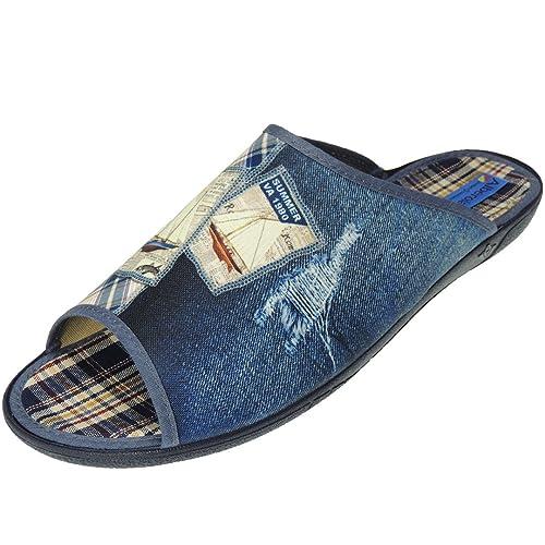 Zapatilla Chinela Verano de IR por Casa en Tallas Grandes para Hombre - Modelo AC6453, Color Azul, Talla 50: Amazon.es: Zapatos y complementos
