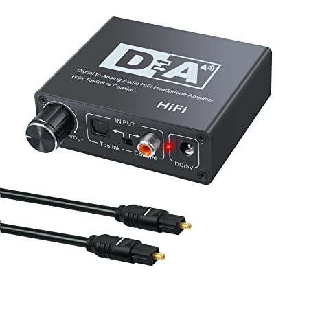 DAC 192kHz/24bit Digital to Analog Aduio Converter Bi-directional Swticher Optical Toslink or