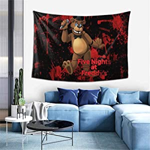 GIPHOJO Colorful Tapestry FNAF Five Nights at Freddy's Tapestries Art Trippy Wall Hanging for Bed Living Room Home Dormitory Beach Picnic (60x40 inches)