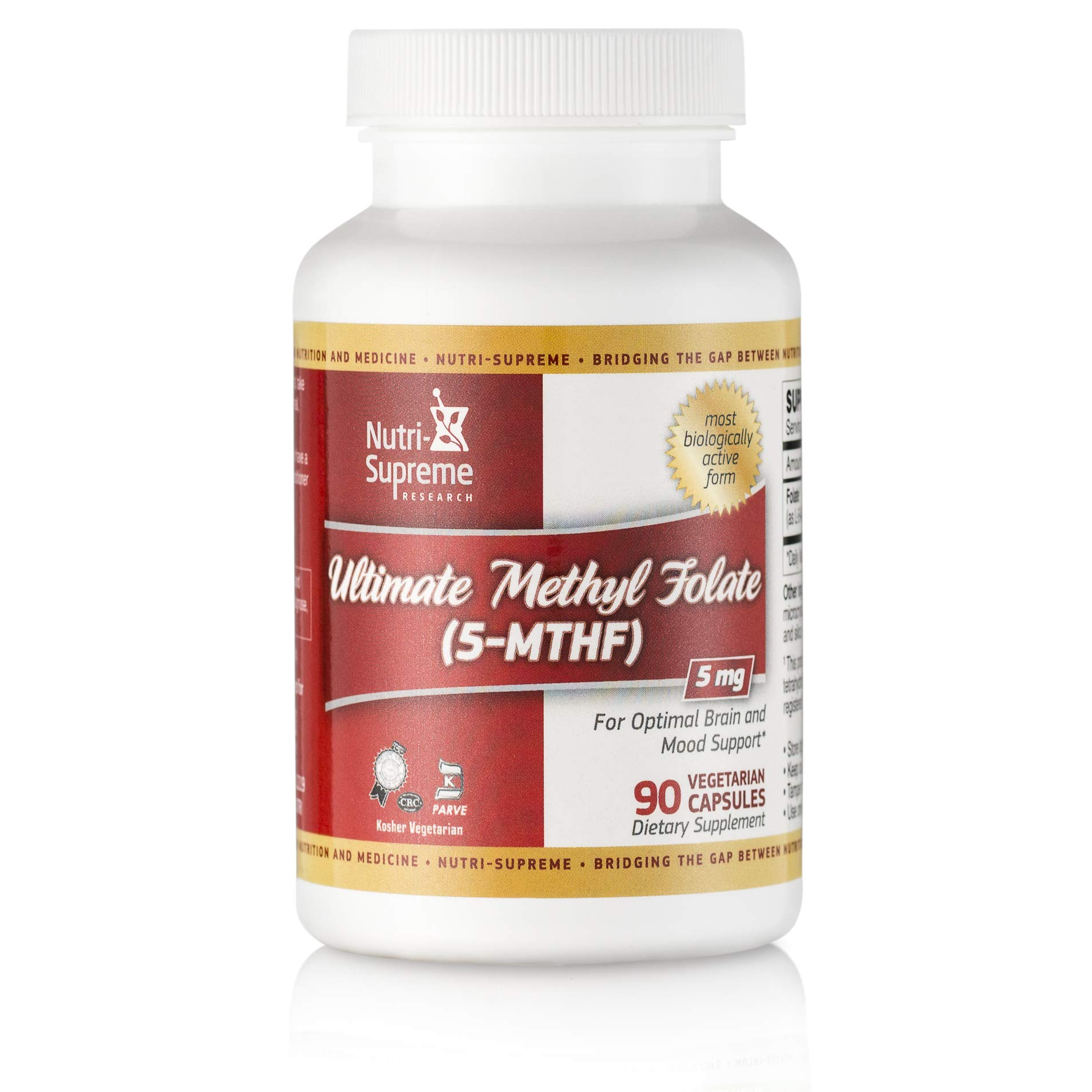 Nutri-Supreme Research Ultimate Methyl Folate (5-MTHF) 5 Mg - 90 Vegetarian Capsules