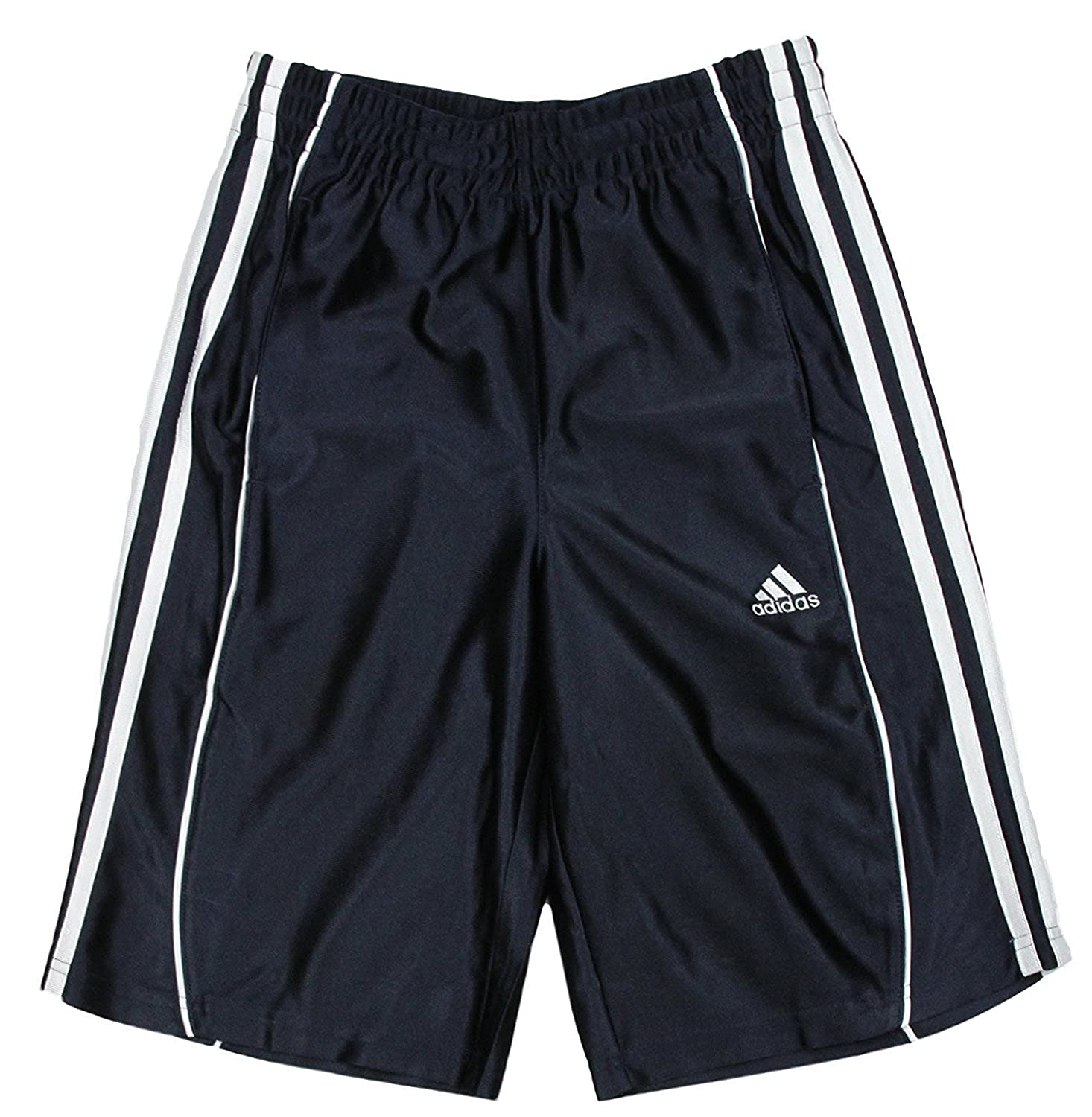 Adidas Big Boys Basic Athletic 3 Stripe Shorts - Navy Blue