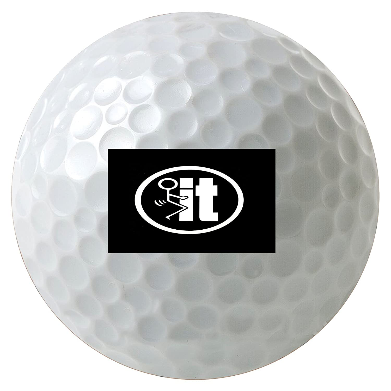 Fuck It Stick Itユーモア3 - Pack Printedゴルフボール B01JUVIHTU