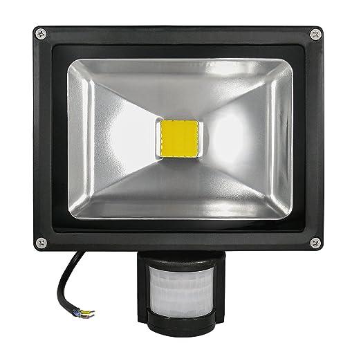 LED COB de foco exterior con sensor de movimiento - IP65 ...