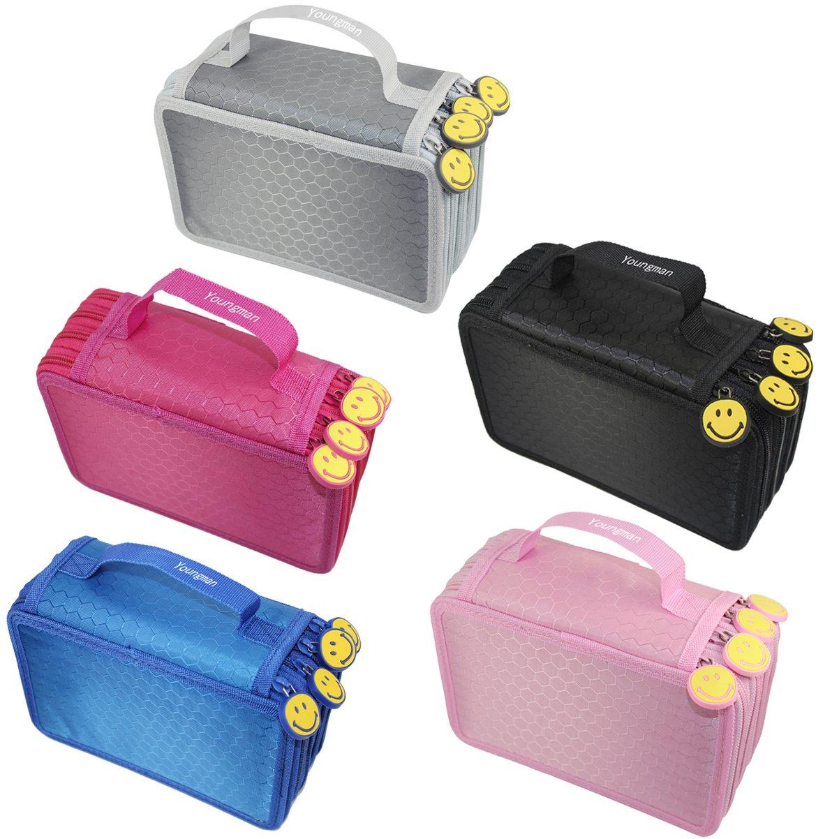 Yougman 72 Piece Colors Super Large Capacity Multi-layer Students Pencil Case Pen Bag Cosmetic Case Bag