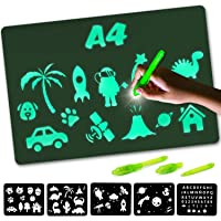 Nene Toys – Lichtgevend Magisch Tekenbord voor Kinderen [A4 Formaat] – Neon Tekenbord voor Kinderen 3-9 Jaar oud…