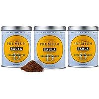 Café Saula, Pack 3 botes de 250 gr. Gran Espresso Premium descafeinado molido.