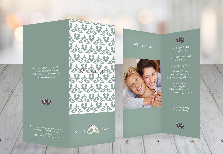Kartenparadies Hochzeitskarte Einladung Ornament Ornament Ornament mit Herz, hochwertige Einladung zur Heirat inklusive Umschläge   10 Karten - (Format  105x215 mm) Farbe  Rosadunkellila B01MUCV4MT | Große Auswahl  | Offizielle Webseite  | Outlet  889933