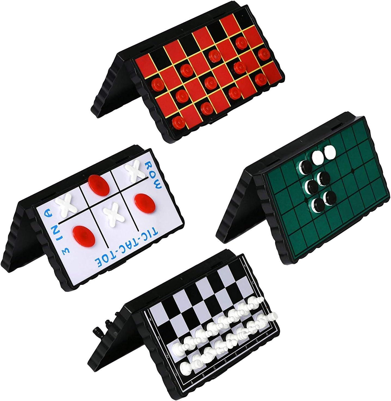 Point Games Juego de Juego de Tablero de Viaje Paquete de 4 Juegos magnéticos clásicos para niños Incluye tableros y Piezas Individuales para Damas, ajedrez, Punta de Tic-TAC: Amazon.es: Juguetes y juegos