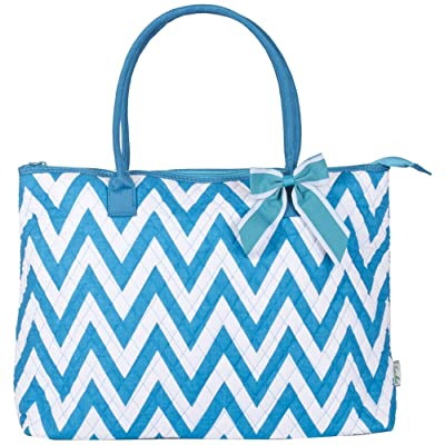 Ever Moda Chevron Quilted Tote Bag