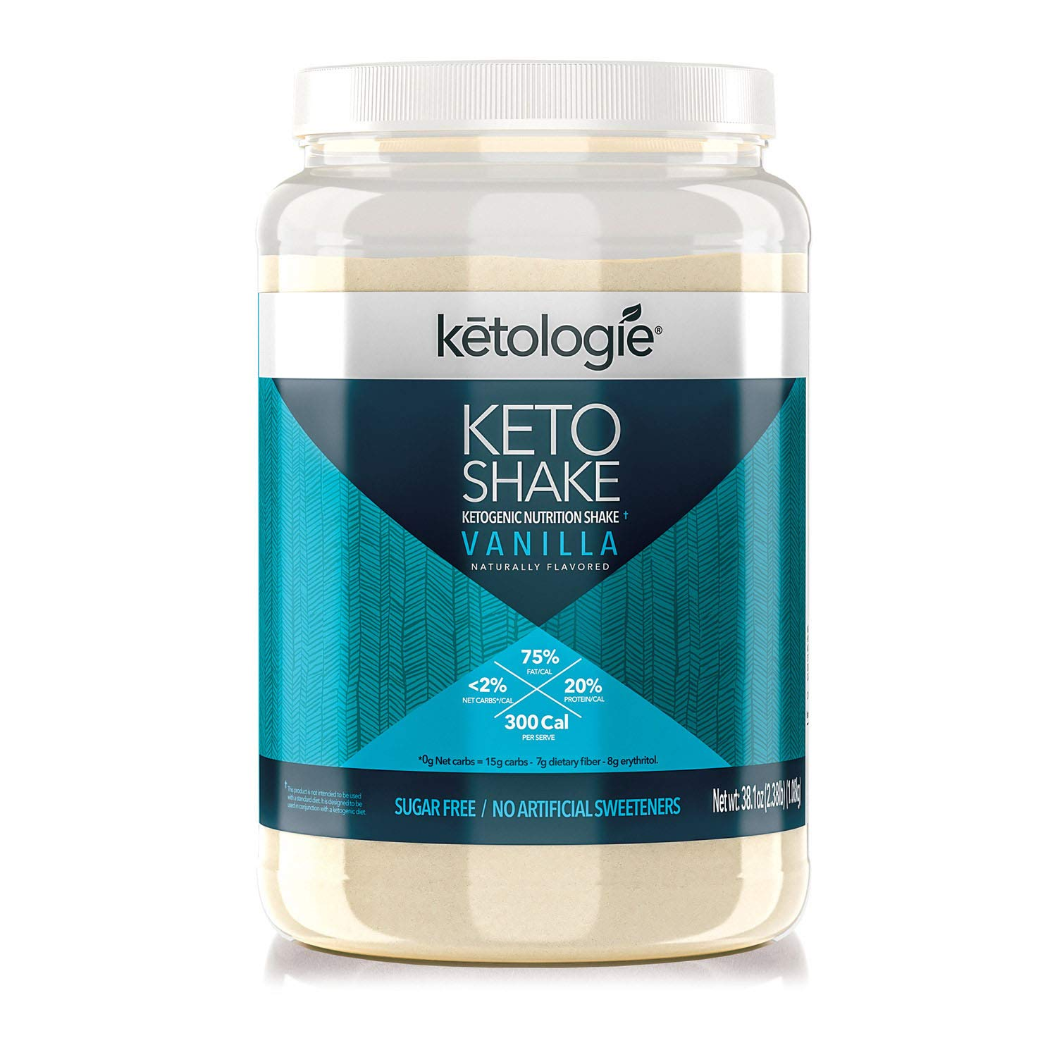 Ketologie Ultra Low Carb Protein Shake, High-Fat Keto Meal Replacement (Vanilla) by Ketologie
