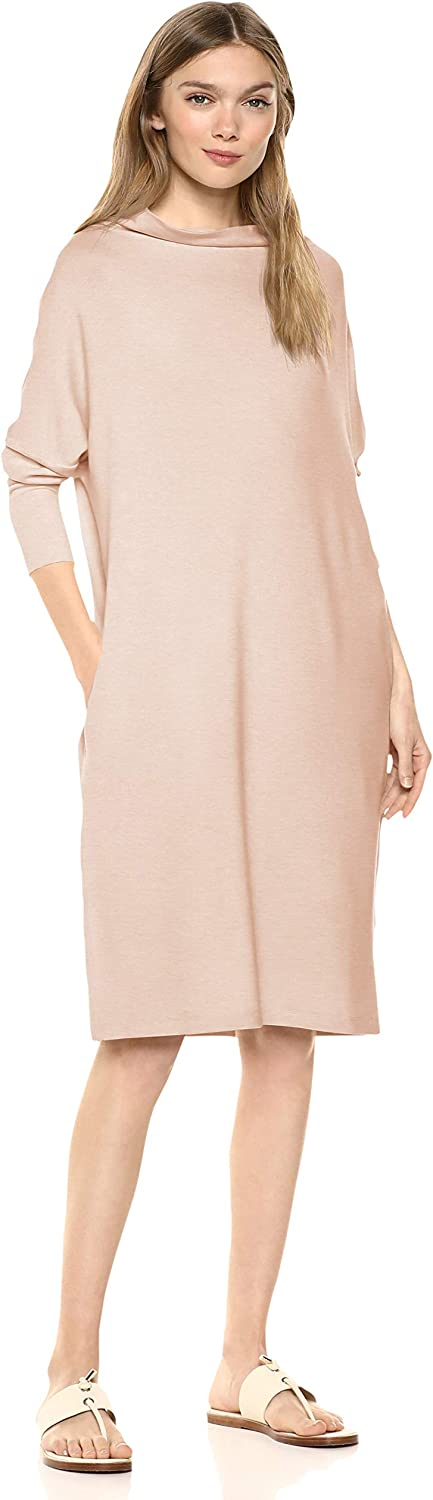 Amazon Brand - Daily Ritual Women's Supersoft Terry Oversized-Fit Modern Funnel-Neck Dress