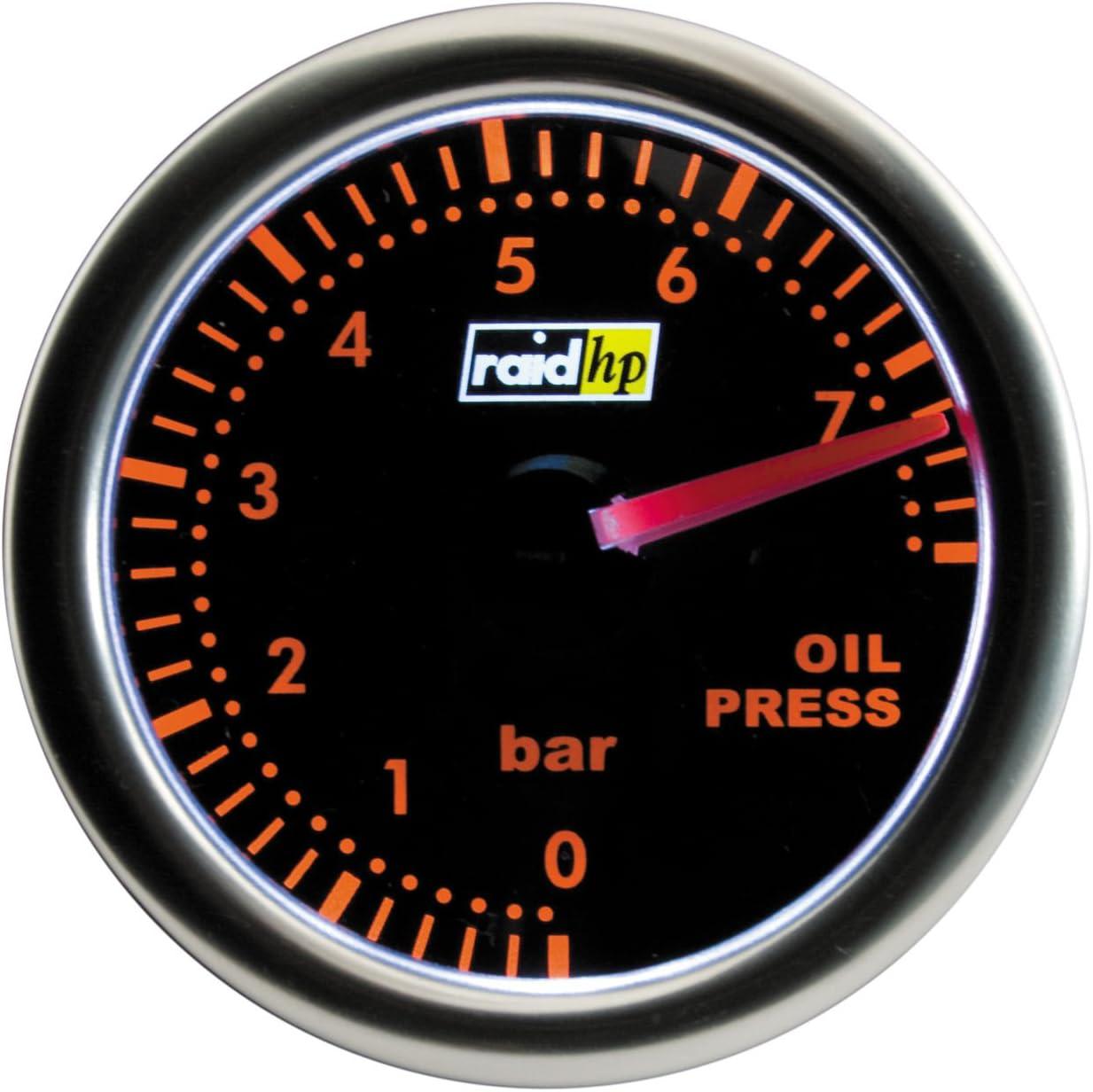 Raid Hp Night Flight 660252 Oil Pressure Gauge Add On Instrument Red Auto