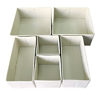 Sodynee Foldable Cloth Storage Box Closet Dresser Drawer Organizer Cube  Basket Bins Containers Divider With Drawers