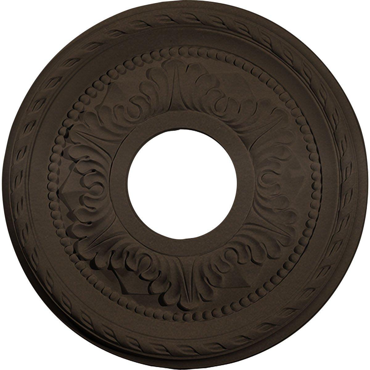 Ekena Millwork CM12PMBZS Ceiling Medallion 12 1/8'' OD x 3 1/2'' ID x 1'' P Palmetto (fits Canopies up to 4 7/8''), Bronze by Ekena Millwork