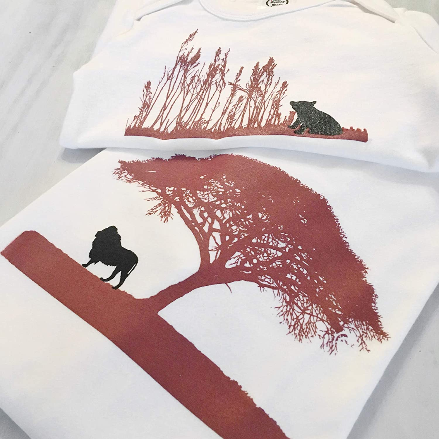 The Spunky Stork Lion /& Cub Matching Daddy /& Me Adult Baby Toddler T Shirt Each Sold Separately