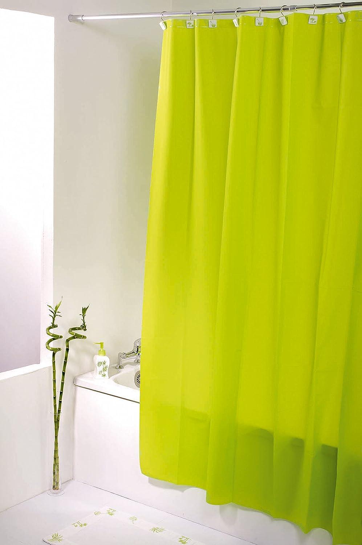 Idee Deco couleur vert anis : Tendance - Rideau de douche vert anis - Taille 180 x 200 cm ...