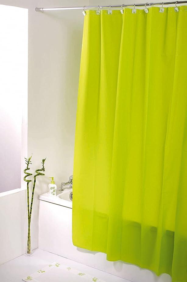 Tendance - Rideau de douche vert anis - Taille 180 x 200 cm ...