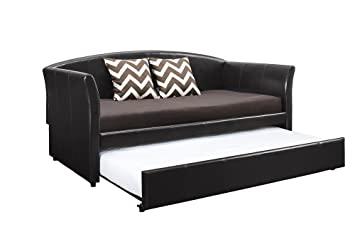 dhp halle upholstered daybed and trundle twin brown