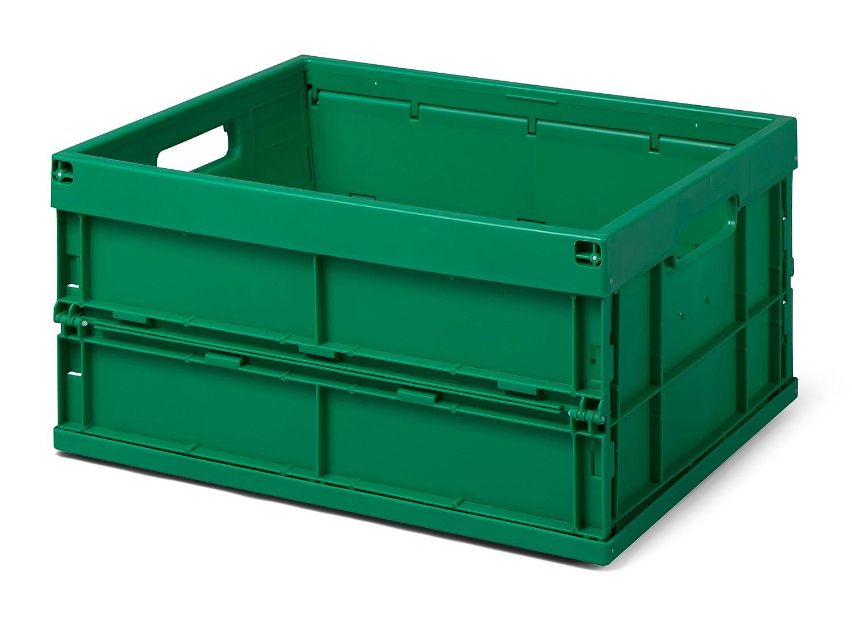 Faltbox / Klappbox FB 475/240-0, 32 liter, 475x350x240 mm (LxBxH), grü n, Industriequalitä t 1a-TopStore