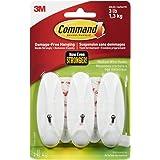 Command Wire Hooks, Medium, White, 3-Hooks (17068-HWES)