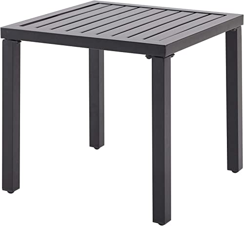 Outdoor Side Table Metal Square Patio Coffee End Table