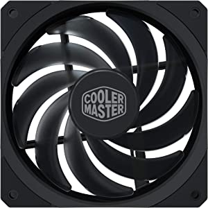 Cooler Master MasterFan SF120R 120mm High Performance Square Frame Fan w/PWM Control, Static Pressure, Silent Technology for Computer Case, CPU Liquid and Air Cooler