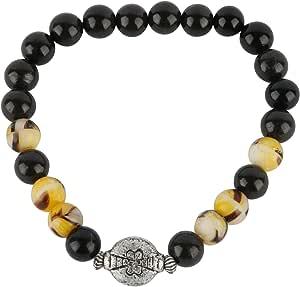 Beaded Bracelet for Unisex, Gemstone, Size 19cm, BR03219