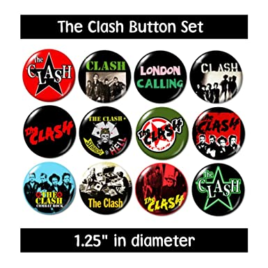 THE CLASH BUTTONS Pins Badges Gifts 70s 80s Rock Punk