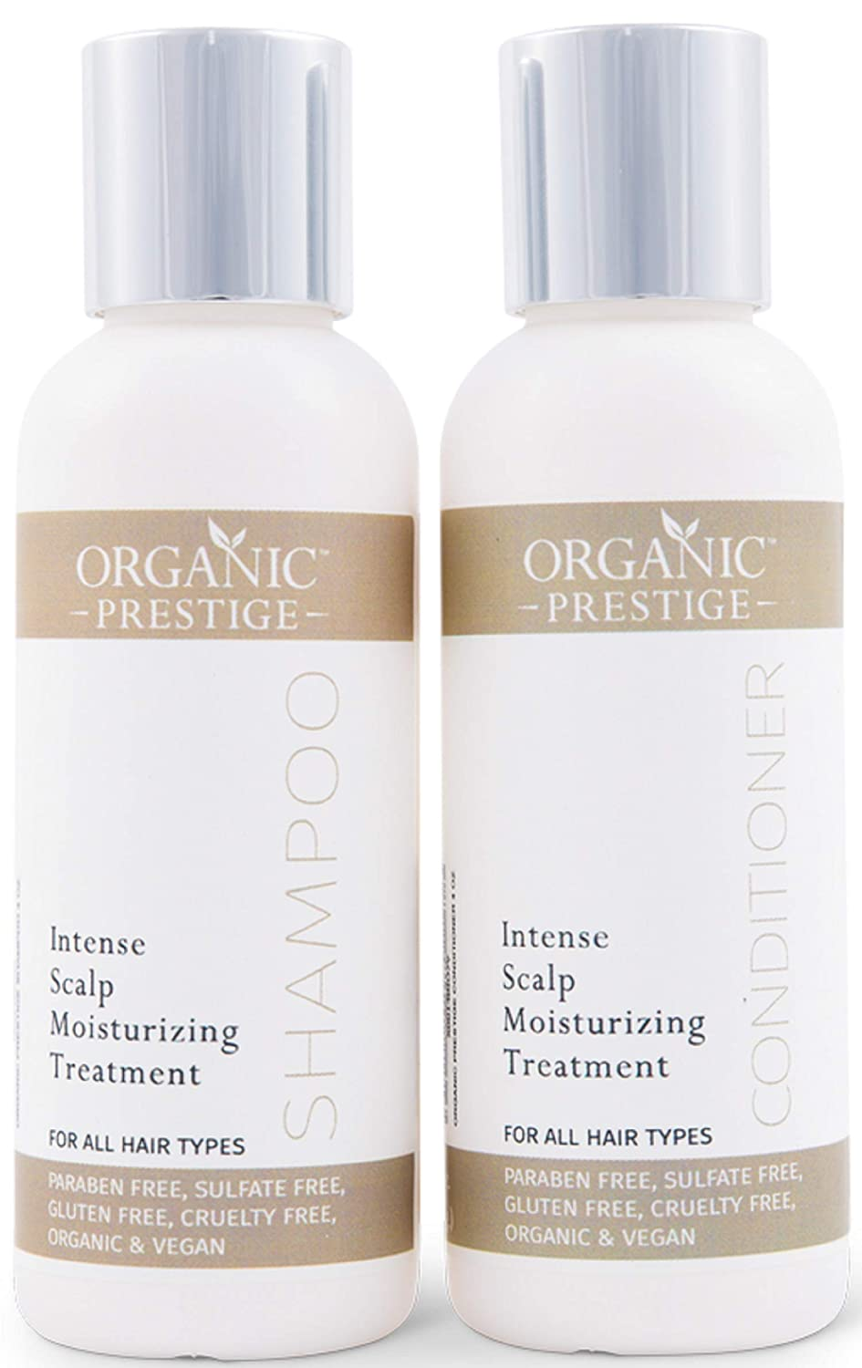 Luxury Shampoo & Conditioner Set - Natural & Organic With Coconut Oil & Aloe Vera - Volumizing Treatment for Hair Loss & Split Ends - Sulfate Free Shampoo & Conditioner for Color Treated Hair (4 oz)