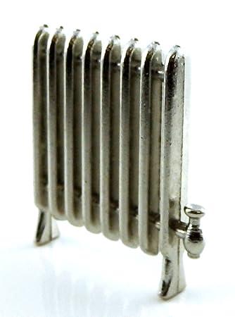 Casa De Muñecas Antiguo Metal Radiador Miniatura 1:12 Escala Calentador