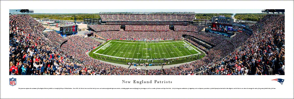 England Patriots - NFL Game Day Prints by Blakeway Panoramas