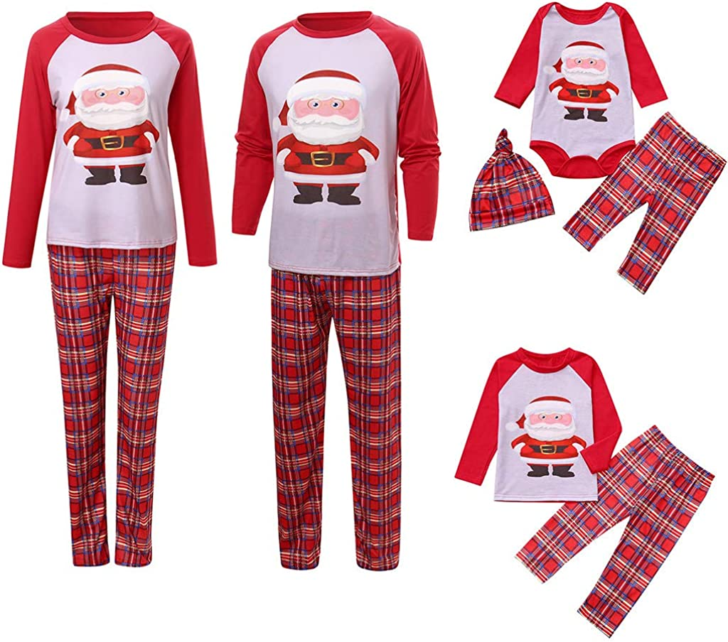 Pijamas de Navidad Familia Conjunto Pantalon y Top Pijamas ...
