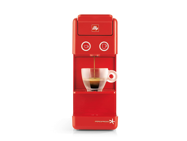Máquina de café A cápsulas Illy modelo y3.2 iperEspresso Color Rojo, Cafetera de Illy iperEspresso y3.2, con cápsulas Ideal Tanto para Café expreso Como ...
