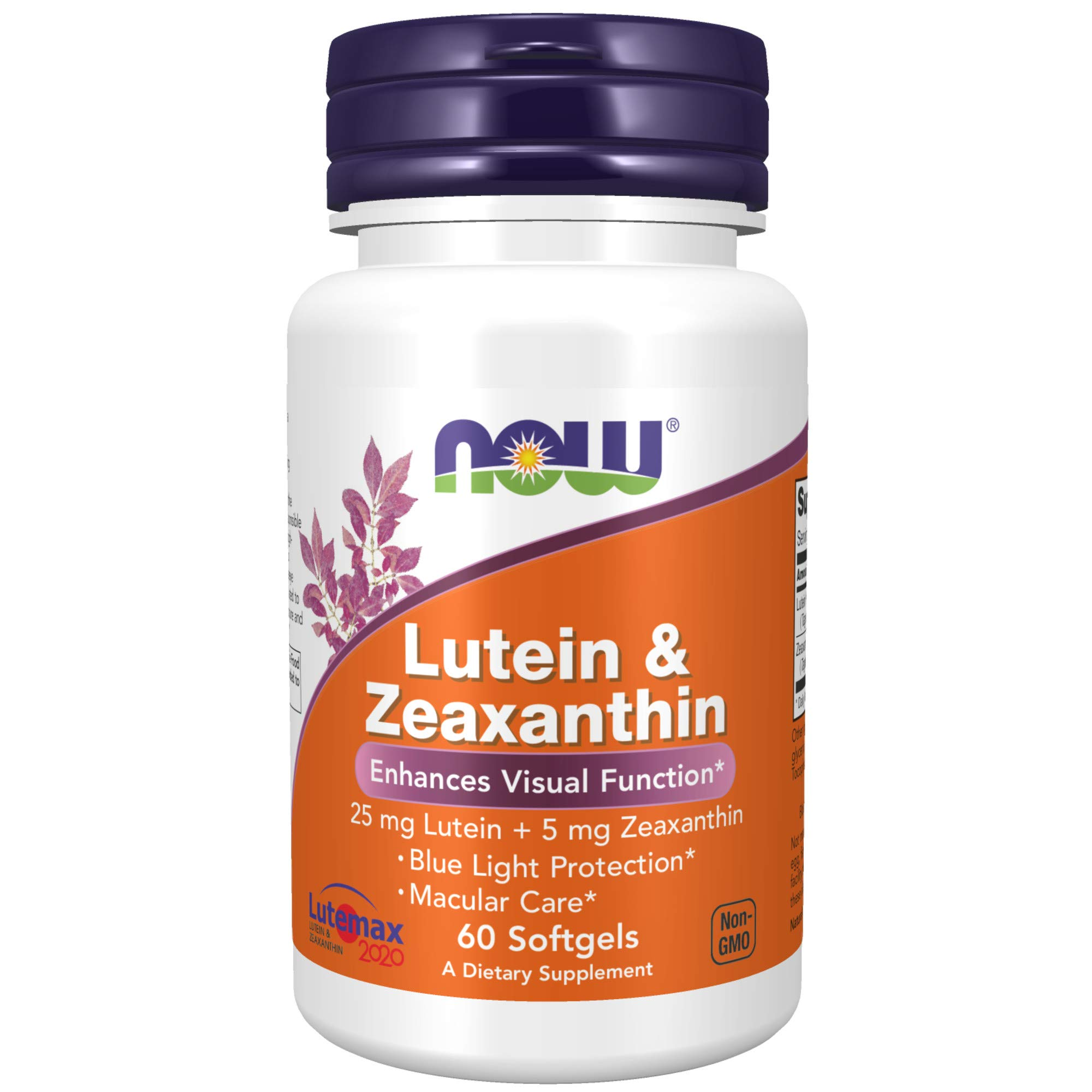 NOW Supplements Lutein & Zeaxanthin with 25 mg Lutein and 5 mg Zeaxanthin, 60 Softgels
