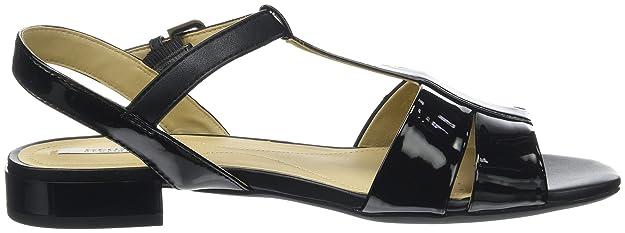 Geox Damen D Wistrey Sandalo D T-Spange, Schwarz (BLACKC9999), 39 EU:  Amazon.de: Schuhe & Handtaschen