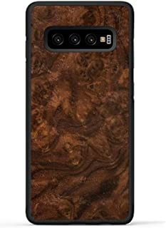 product image for Carved - Galaxy S10 Plus - Luxury Protective Traveler Case - Unique Real Wooden Phone Cover - Rubber Bumper - Walnut Burl