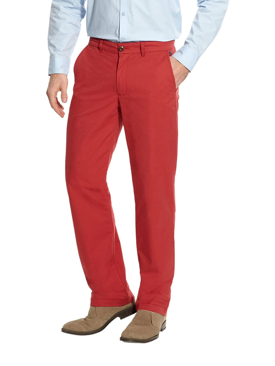Balsamik - Trousers, Short Length - men - Size : 40 - Colour : Red medium solid