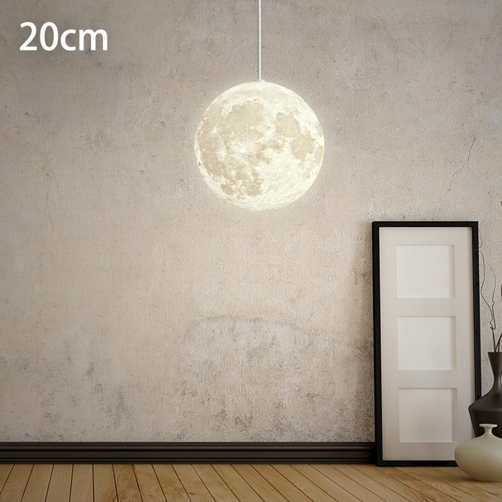 Post-Modernen Pendelleuchten Hängelampe Nordic Einfache Mond Hängeleuchte Wohnzimmer Arbeitszimmer Schlafzimmer Persönlichkeit Kreative Loft Restaurant Beleuchtung Kugel Lampe E27 Ø20CM