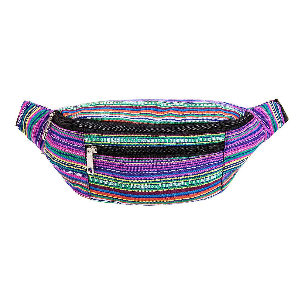 Amazon.com: Blue Banana Striped Bum Bag (Purple): Shoes