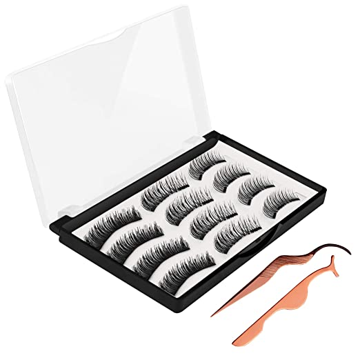 Magnetic False Eyelashes, JDO Upgraded 3D Magnetic Eye Lashes (12 PCS), Reusable Handmade Fake Eyelashes No Irritation No Allergy 3 Styles Lashes with 2 Professional Tweezers for Party Dating Wedding best fake eyelashes