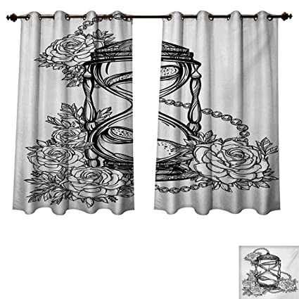 door pencil drawing secret garden coloring book rupperttextile tattoo blackout thermal curtain panel pencil drawing romantic theme hourglass symbol of eternal love with amazoncom