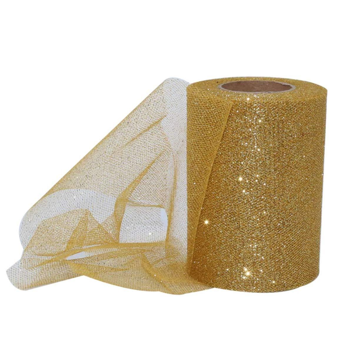 Shangwelluk scintillante net tessuto tulle rotolo di nastro glitter foto sfondo panno decorazioni per matrimoni Red