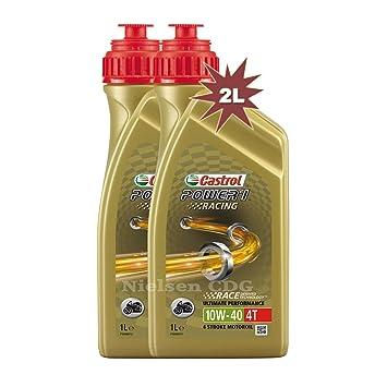 Aceite de motor para motocicleta Castrol Power 1 Racing 4T 10W40: Amazon.es: Coche y moto