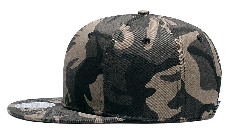 TESOON Unisex Camo Snapback Hat Adjustable Flat Bill Cap