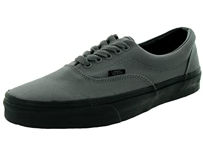 96412b034cc4 Vans Era Women s Fashion Shoes Gargoyle Grey Black Sneakers (4.0 Men  5.5  Women