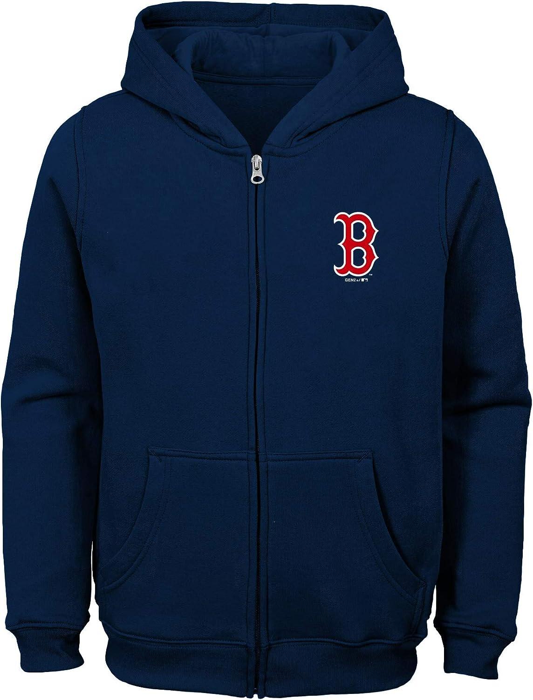 OuterStuff MLB Youth 8-20 Team Color Performance Logo Full Zip Sweatshirt Hoodie