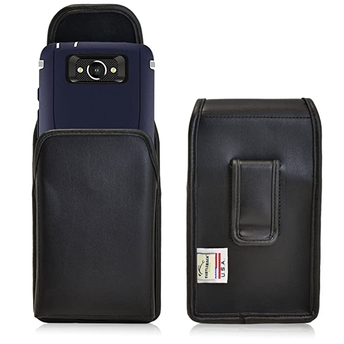 half off 68a54 50269 Turtleback Holster Made for Motorola Droid Turbo with Otterbox Defender or  LIFEPROOF case Black Vertical Belt Case Leather Pouch with Executive Belt  ...