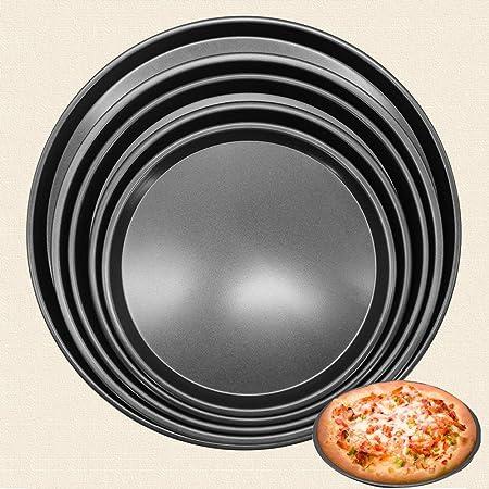 ZRZJBX Molde Pizza Antiadherente,Juego De Base para El Horno para ...