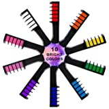Chnaivy Hair Chalk for Girls, Temporary Bright Hair Chalk Comb Washable Hair Dye New Year Gifts for Girls Kids Party, Cosplay, Christmas and DIY, 10 Colors
